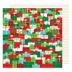 American Crafts - All Wrapped Up Collection - Christmas - 12 x 12 Double Sided Paper - Holiday Surprises