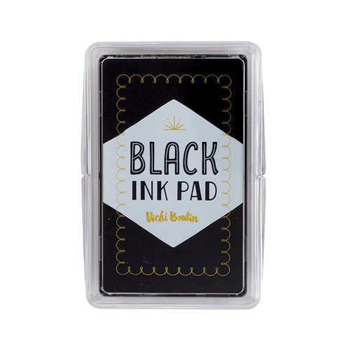 American Crafts - Mixed Media Collection - Black Stamp Pad