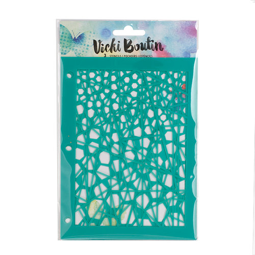 American Crafts - Mixed Media Collection - Stencil Pack - Linear