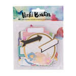 American Crafts - Vicki Boutin - Mixed Media - Cardstock Stickers - Labels