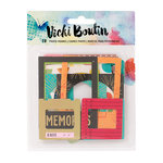 American Crafts - Vicki Boutin - Mixed Media - Photo Frames with Foil Accents