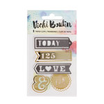 American Crafts - Mixed Media Collection - Paperclips - Word with Foil Accents