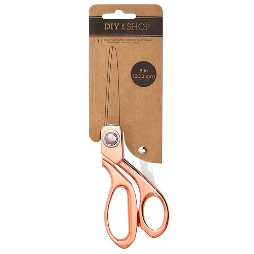 American Crafts - DIY Shop Collection - Scissor - 8 Inch - Rose Gold