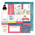 American Crafts - Lovely Day Collection - 12 x 12 Double Sided Paper - Hey Hey Hey