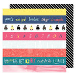 American Crafts - Lovely Day Collection - 12 x 12 Double Sided Paper - Literally Love