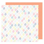 American Crafts - Lovely Day Collection - 12 x 12 Double Sided Paper - Diamonds Forever