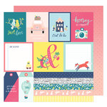 American Crafts - Lovely Day Collection - 12 x 12 Double Sided Paper - C'est La Vie