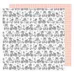 American Crafts - Lovely Day Collection - 12 x 12 Double Sided Paper - Off We Go