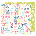 American Crafts - Lovely Day Collection - 12 x 12 Double Sided Paper - You're So Cool