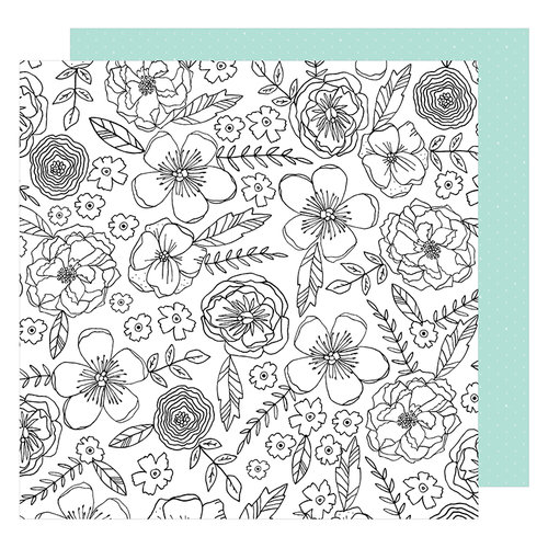 American Crafts - Lovely Day Collection - 12 x 12 Double Sided Paper - Color Me Pretty