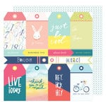 American Crafts - Lovely Day Collection - 12 x 12 Double Sided Paper - Tag You're It