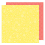 American Crafts - Lovely Day Collection - 12 x 12 Double Sided Paper - Sunny Day