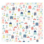 American Crafts - Lovely Day Collection - 12 x 12 Double Sided Paper - Beep Beep