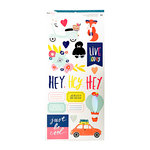 American Crafts - Lovely Day Collection - Cardstock Stickers with Foil Accents - Accents and Phrases