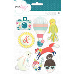 American Crafts - Lovely Day Collection - Cardstock Stickers - Layered
