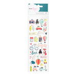 American Crafts - Lovely Day Collection - Puffy Stickers