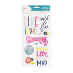 American Crafts - Lovely Day Collection - Thickers - Chipboard - Phrase