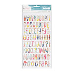 American Crafts - Lovely Day Collection - Thickers - Alphabet with Foil Accents