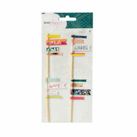 American Crafts - Lovely Day Collection - Layered Flags with Foil Accents