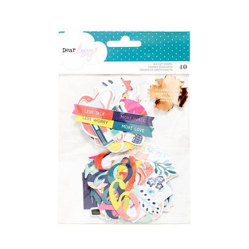 American Crafts - Lovely Day Collection - Ephemera with Foil Accents