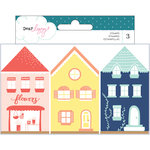 American Crafts - Lovely Day Collection - Wood House Stamp Set