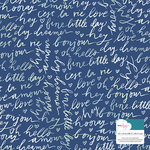 American Crafts - Lovely Day Collection - 12 x 12 Single Sided Foil Paper - Blue