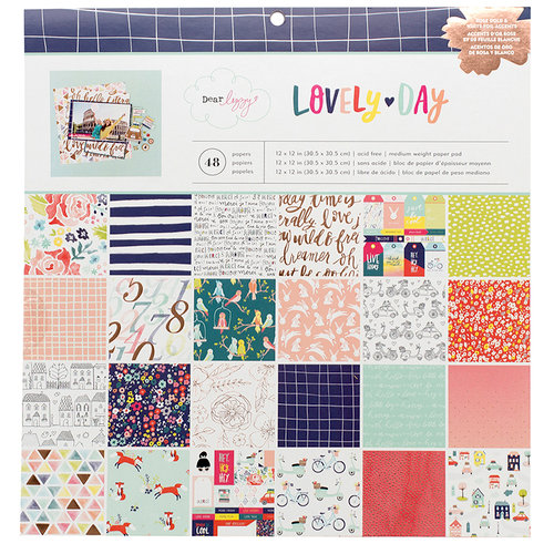 American Crafts - Lovely Day Collection - 12 x 12 Paper Pad