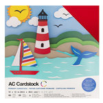 American Crafts - 12 x 12 Cardstock Pack - 60 Sheets - Primaries