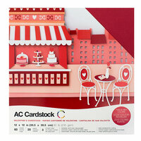 American Crafts - 12 x 12 Cardstock Pack - 60 Sheets - Valentines