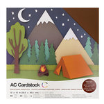 American Crafts - 12 x 12 Cardstock Pack - 60 Sheets - Earthtones