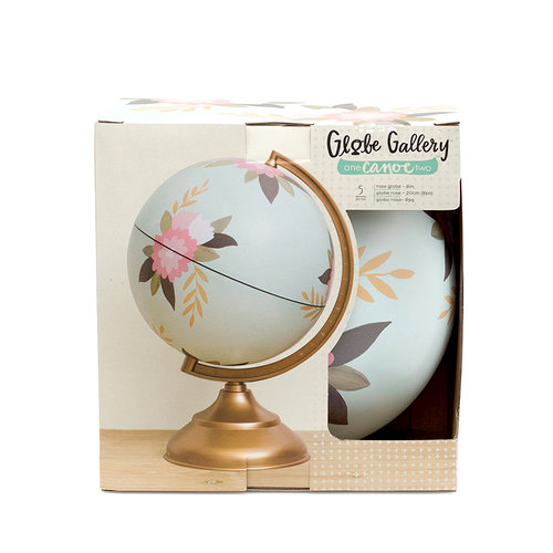 1 Canoe 2 - Globe Gallery Collection - Globe - 8 Inches - Rose