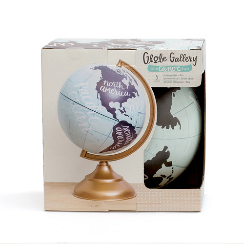 1 Canoe 2 - Globe Gallery Collection - Globe - 8 Inches - Map