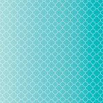 Core'dinations - 12 x 12 Paper - Teal Quatrefoil