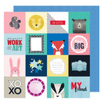 American Crafts - Little By Little Collection - 12 x 12 Double Sided Paper - Think Big