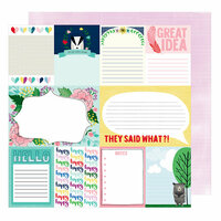 American Crafts - Little By Little Collection - 12 x 12 Double Sided Paper - Grinning Badger