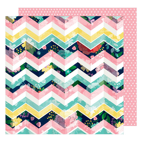 American Crafts - Little By Little Collection - 12 x 12 Double Sided Paper - Li'l Bit Lovely