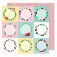 American Crafts - Little By Little Collection - 12 x 12 Double Sided Paper - Clever Little Fox