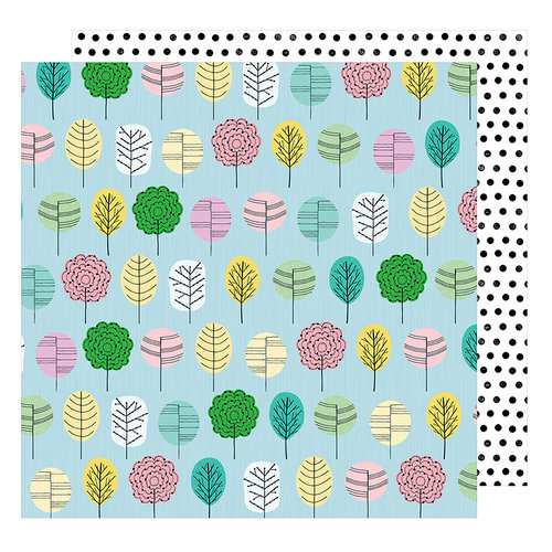 American Crafts - Little By Little Collection - 12 x 12 Double Sided Paper - Grow Happy