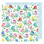 American Crafts - Little By Little Collection - 12 x 12 Double Sided Paper - Birds of a Feather