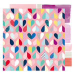 American Crafts - Little By Little Collection - 12 x 12 Double Sided Paper - Evolving Love