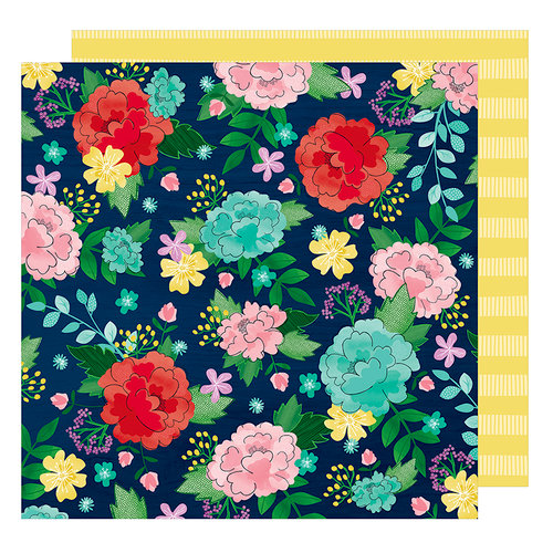 American Crafts - Little By Little Collection - 12 x 12 Double Sided Paper - Cultivate Joy