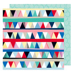 American Crafts - Little By Little Collection - 12 x 12 Double Sided Paper - Higgledy Piggledy