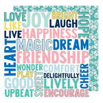 American Crafts - Little By Little Collection - 12 x 12 Double Sided Paper - Encourage Wonder