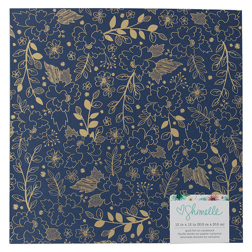 American Crafts - Little By Little Collection - 12 x 12 Single Sided Foil Paper - Matte Gold