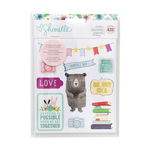 American Crafts - Little By Little Collection - Cardstock Sticker Book