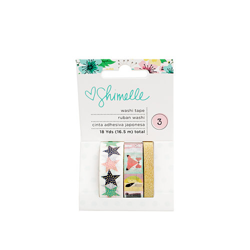 American Crafts - Little By Little Collection - Washi Tape with Foil and Glitter Accents