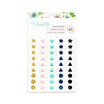 American Crafts - Little By Little Collection - Enamel Dots with Glitter Accents