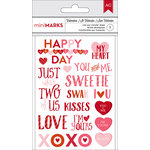 American Crafts - Valentines 2017 Collection - Rub Ons - Phrases