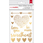 American Crafts - Valentines 2017 Collection - Rub Ons - Gold