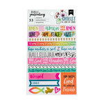 American Crafts - Bible Journaling Collection - Washi Stickers - Trendy
